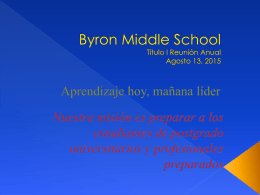 Byron Middle School - Peach County Schools
