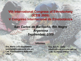 Proposal for the 5th International Congress of …
