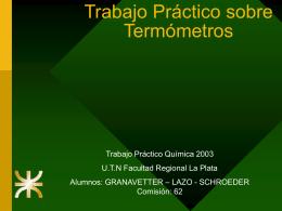 Termometros - Facultad Regional La Plata