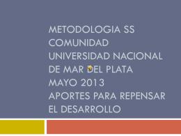 METODOLOGIA SS COMUNIDAD UNIVERSIDAD …