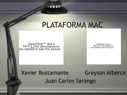 PLATAFORMA MAC