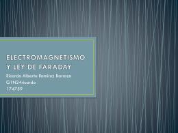 ELECTROMAGNETISMO Y LEY DE FARADAY