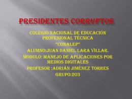 Presidentes corruptos