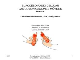 Comunicaciones Moviles GSM, GPRS, EDGE