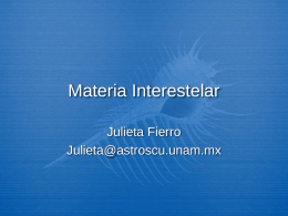 Materia Interestelar