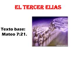 EL TERCER ELIAS