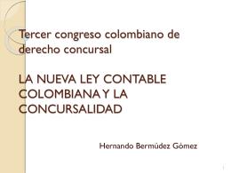 Tercer congreso colombiano de derecho concursal LA …