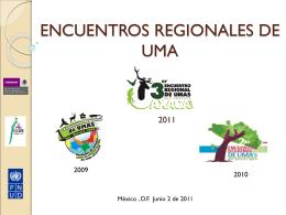 Tercer encuentro regional de umas