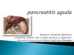 pancreatitis aguda amparo valverde martinez residente
