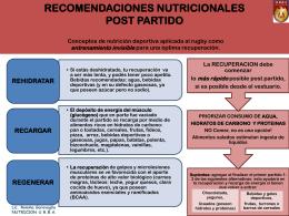 RECOMENDACIONES NUTRICIONALES PARA el TERCER …