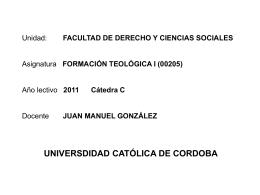 Unidad: FACULTAD DE DERECHO Y CIENCIAS SOCIALES …