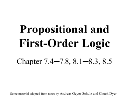 Propositional/First