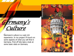 Germany's Culture - Faculty Website Directory