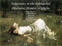 Femininity in the Patriarchal Discourse: Hamlet's Ophelia
