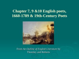 Chapter 7 English poets, 1660-1789