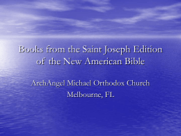 THE BOOK OF TOBIT - Coptic Orthodox Diocese of the
