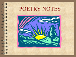 Poetry Notes PowerPoint - Jefferson Township Public …