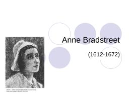 Anne Bradstreet - Faulkner University
