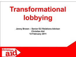 A marcher's guide to lobbying MPs