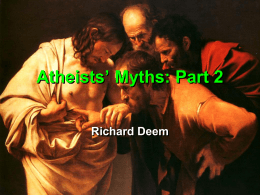 Atheists' Myths: Part 2, Jesus Didn't Become God Until the