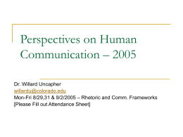 Perspectives on Human Communication – 2005