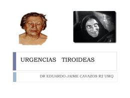URGENCIAS TIROIDEAS - Residentes Urgencias