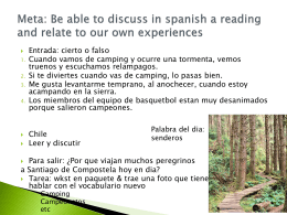 Meta: Be able to discuss in spanish a reading and relate