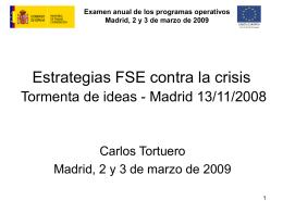 Estrategias FSE contra la crisis