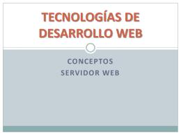 TECNOLOGIAS DE DESARROLLO WEB