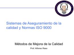 Sistemas de Aseguramiento de la Calidad y Normas ISO …