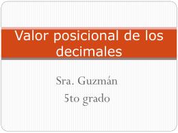 Valor posicional de los decimales