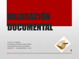 VALORACION DOCUMENTAL