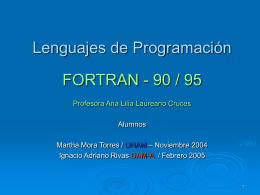 FORTRAN90 - Servidor en Prueba