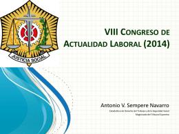 VIII Congreso de Actualidad Laboral (2014)