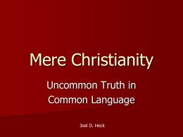 Mere Christianity - Joel Heck's Lewis Site