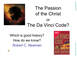 PowerPoint Presentation - The Passion of the Christ or The