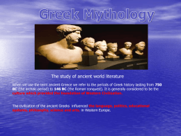Greek Mythology (Ancient World Literature)