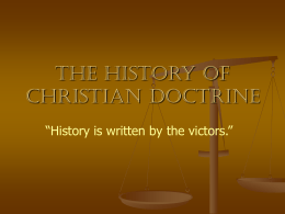 History of Christian Doctrine