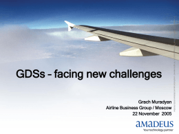 GDS - responding new challenges