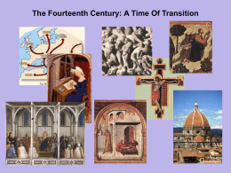 Chapter 11 - The Fourteenth Century: A Time of Transition