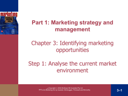 Chapter 3 Evaluating Opportunities in Changing Market