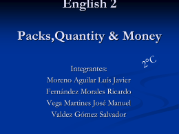 English 2 Packs,Quantity & Money