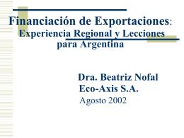 BRASIL: Instrumentos Financieros vinculados al Comercio
