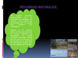 RECURSOS NATURALES.