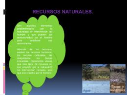 RECURSOS NATURALES.