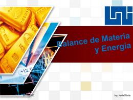Balance de Materia y Energia - Ingeniera Karla Elisabeth