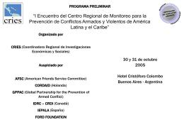 "SEGUNDO SEMINARIO REGIONAL ""Construyendo la paz …"