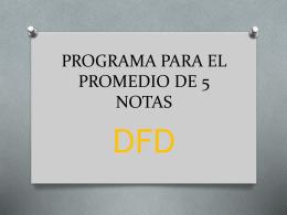 PROGRAMA PARA EL PROMEDIO DE 5 NOTAS