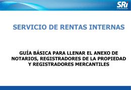 Diapositiva 1 - Servicio de Rentas Internas
