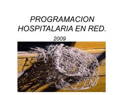 PROGRAMACION HOSPITALARIA